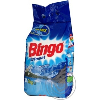 Порошок пральний Bingo Гірська свіжість automat 3кг