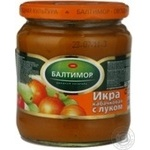 Caviar Baltimor squash with onion canned 450g glass jar Russia