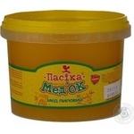 Мед липовий натуральний квітковий Пасіка Мед'ОК пластикове відро 500г