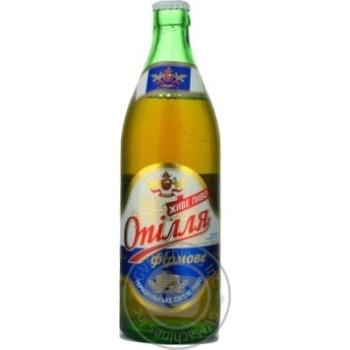 Пиво Опилля Фирменное живое светлое стеклянная бутылка 5.7%об. 500мл Украина