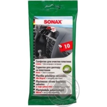Серветка для очищення пластику Sonax