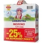 Молоко 3,2% Словяночка 3*0,95л