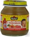 Пюре фруктовое Хаме Персик для детей с 5 месяцев стеклянная банка 125г Чехия