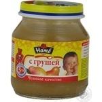 Пюре фруктовое Хаме Груша для детей с 5 месяцев стеклянная банка 125г Чехия