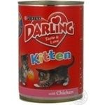 Food Darling with chicken canned for pets 400g can Hungary