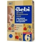 Porridge Bebi Dry instant dairy free oatmeal with wild berries for 6+ month old babies 10 portions 200g