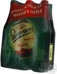 Пиво Старопрамен Прага светлое пастеризованное стеклянная бутылка 4.2%об. 6х500мл Украина