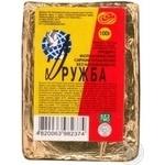 Cheese product Druzhba processed 55% 100g Ukraine