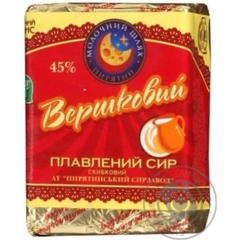 Сыр Молочный шлях Пирятин сливочный плавленый ломтевой 45% 100г Украина
