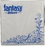 Серветки декоративні трьохшарові Fantasy Deluxe білі 20шт
