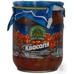 Vegetables kidney bean Dary laniv mushroom in tomato sauce 520g glass jar Ukraine