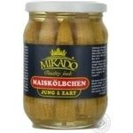 Vegetables corn Mikado canned 370g glass jar