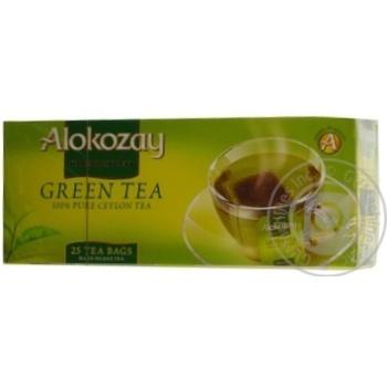 Зеленый чай Алокозай цейлонский в пакетиках 25х2г ОАЭ