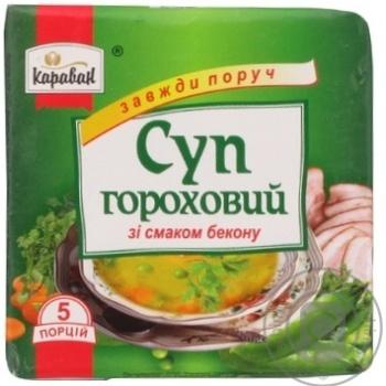 Суп гороховий зі смаком бекону Караван 160г - купить, цены на Novus - фото 1