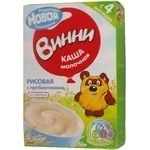 Baby milk porridge Vinni Rice with prebiotics gluten-free dry quick-cooking for 4+ months babies 220g Russia
