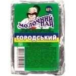 Cheese product Molochnuy pan Gorodskyy processed 45% 100g