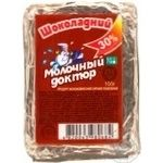 Chocolate processed cheese product Molochnyi doctor milk containing 30% 100g Ukraine