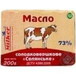 Масло солодковершкове 73% Селянське Мілкер 200 г