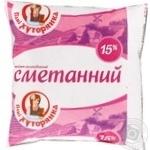 Сметанный продукт Пани Хуторянка 15% 400г
