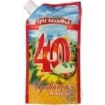Mayonnaise Tri kozaka Extra 40% 200g doypack Ukraine