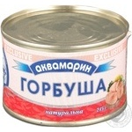 Fish pink salmon Akvamaryn canned 245g can