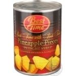 Fruit pineapple Best time pieces 580ml can Thailand