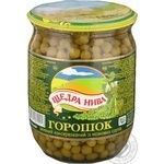 Vegetables pea Schedra niva green pea 500g glass jar Ukraine