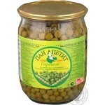 Vegetables pea canned 500g glass jar
