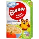 Baby milk porridge Vinni Wheat with pumpkin with prebiotics dry quick-cooking for 5+ months babies 220g Russia