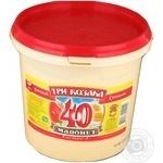 Mayonnaise Tri kozaka Extra 40% 800g bucket Ukraine