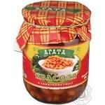 Vegetables kidney bean Agata in tomato sauce 500g glass jar