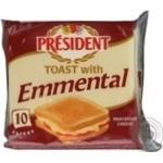 Плавленый сыр Президент Эменталь для тостов 40% 200г