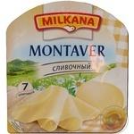 Сир Мілкана Монтавер вершковий нарізка напівтвердий 60% 150г Франція