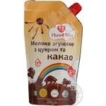 Молоко сгущенное Мама Мила с сахаром и какао 7.5% 320г дой-пак Украина