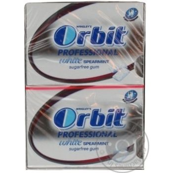 Жевательная резинка Orbit Professional White 14г