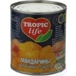 Мандарины Tropic Life дольками в сиропе 314мл