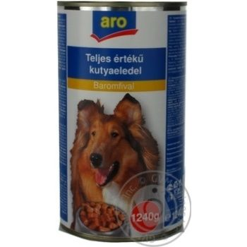 Aro Canned With Poultry Meat Food For Dogs - buy, prices for Metro - image 1