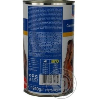 Корм Aro консервований з м'ясом птиці для собак 1240г - купити, ціни на Метро - фото 3