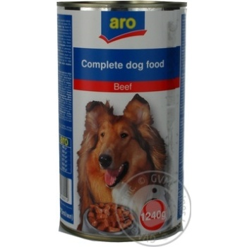 Aro Canned With Beef Food For Dogs - buy, prices for Metro - image 1