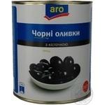 Оливки черные Aro с косточкой 2800г