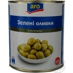 Оливки зелені Aro з кісточкою 2800г
