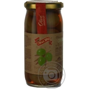 Оливки DivaOliva зелені з кісточкою 370мл