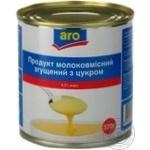 Продукт молокосодержащий Аро сгущенный с сахаром 8.5% 370г железная банка Украина