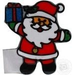 Наклейка новорічна Дід Мороз з подарунком