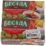 Tea Beseda Refreshing lemongrass lemongrass black packed 26pcs 39g