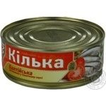 Fish sprat Flagman in tomato sauce 230g can