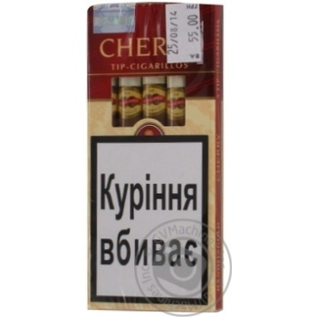 Cherry Tip Cigarilos Cigars - buy, prices for Furshet - image 1