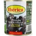 olive Iberica black pitted 3100g can Spain