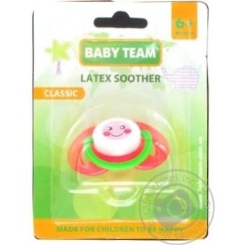 Пустышка Baby Team латексная классическая 6мес+