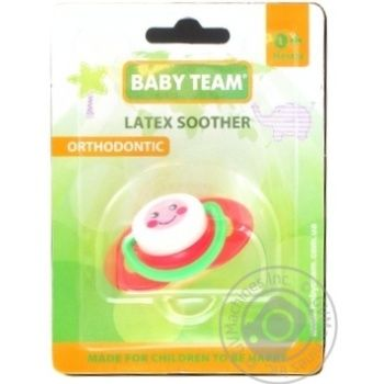 Пустушка латексна ортодонтична Baby Team арт.3200